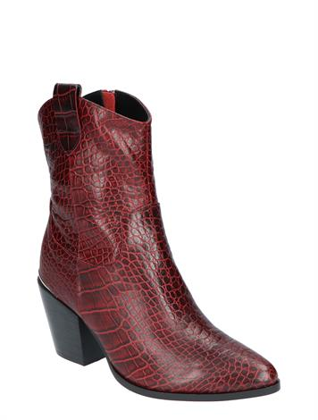 Vivian Ray Linde Wine Red Croco Leather