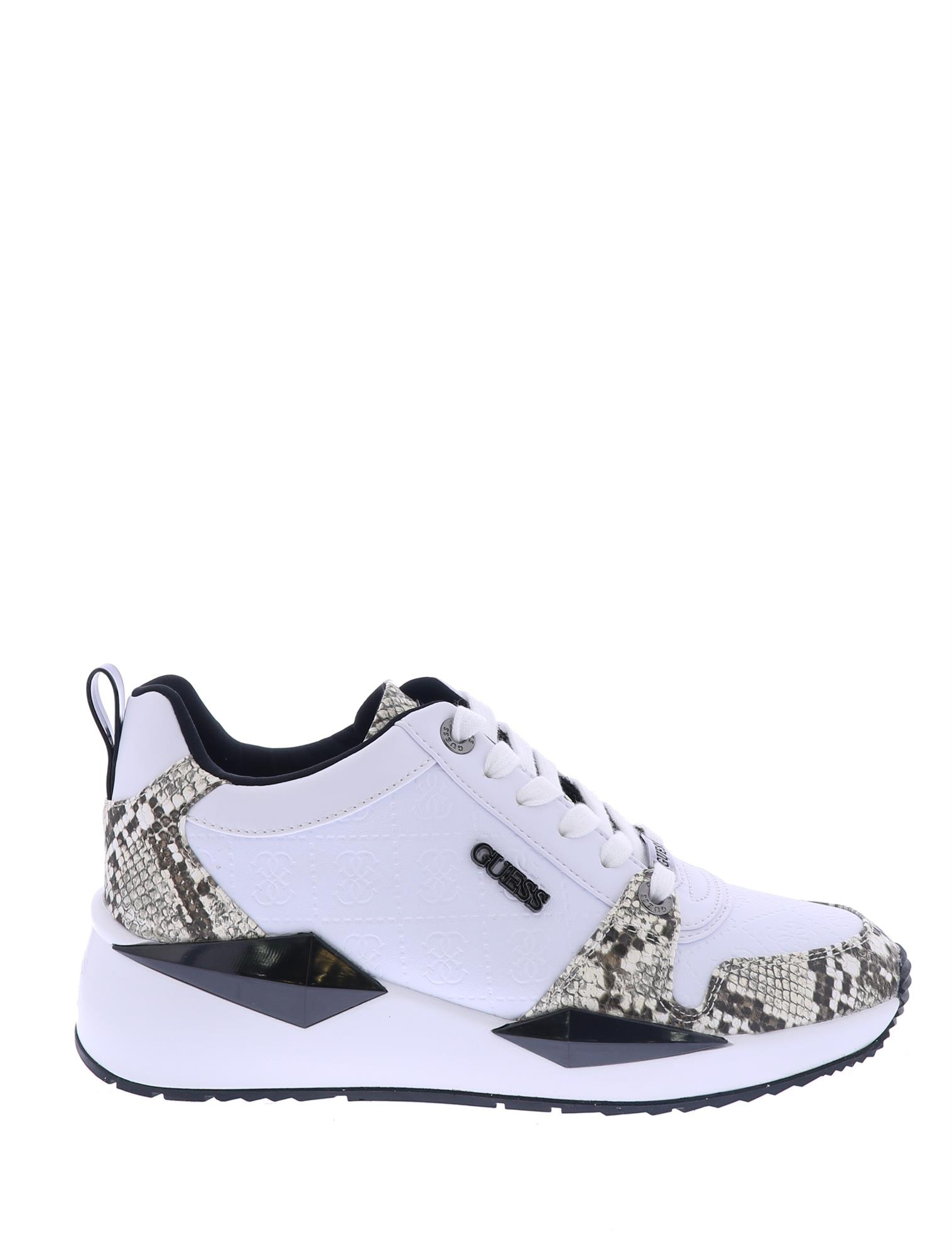 Guess Tallyn White Black Lage Sneakers Sneakers Nolten
